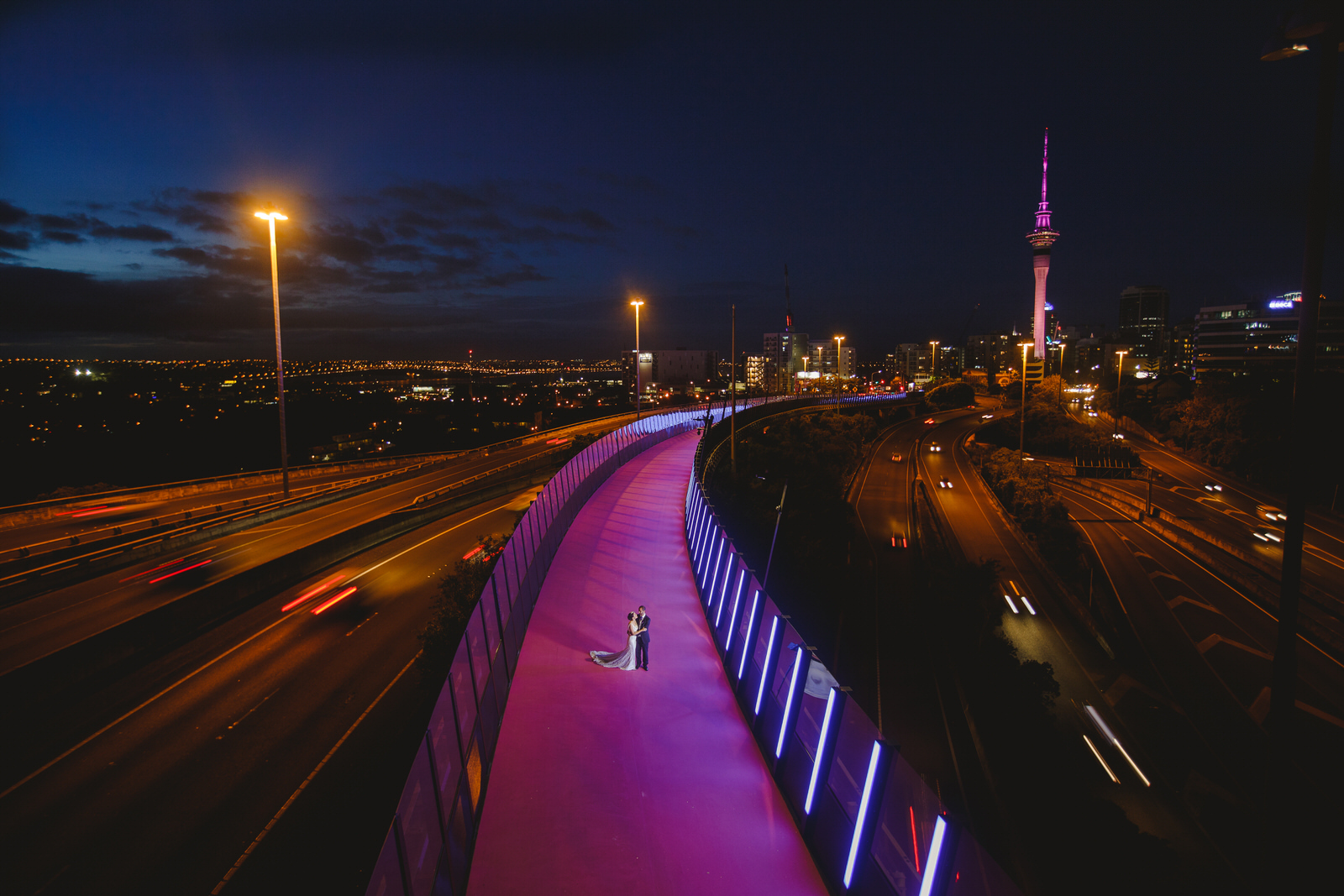 Nelson St Cycleway, Wedding, engagement shoot, bridal, location, Auckland